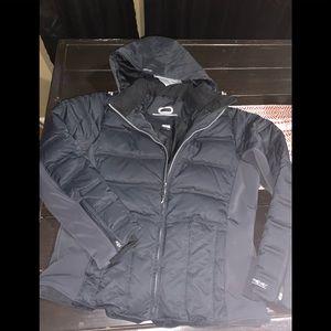 Obermyer black womens down jacket sz 16